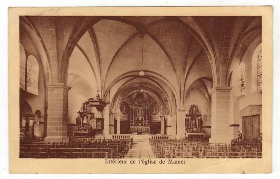 Mamer Luxembourg 1933 L\'intérieur de l\'église Ch.Maroldt Luxembu ...